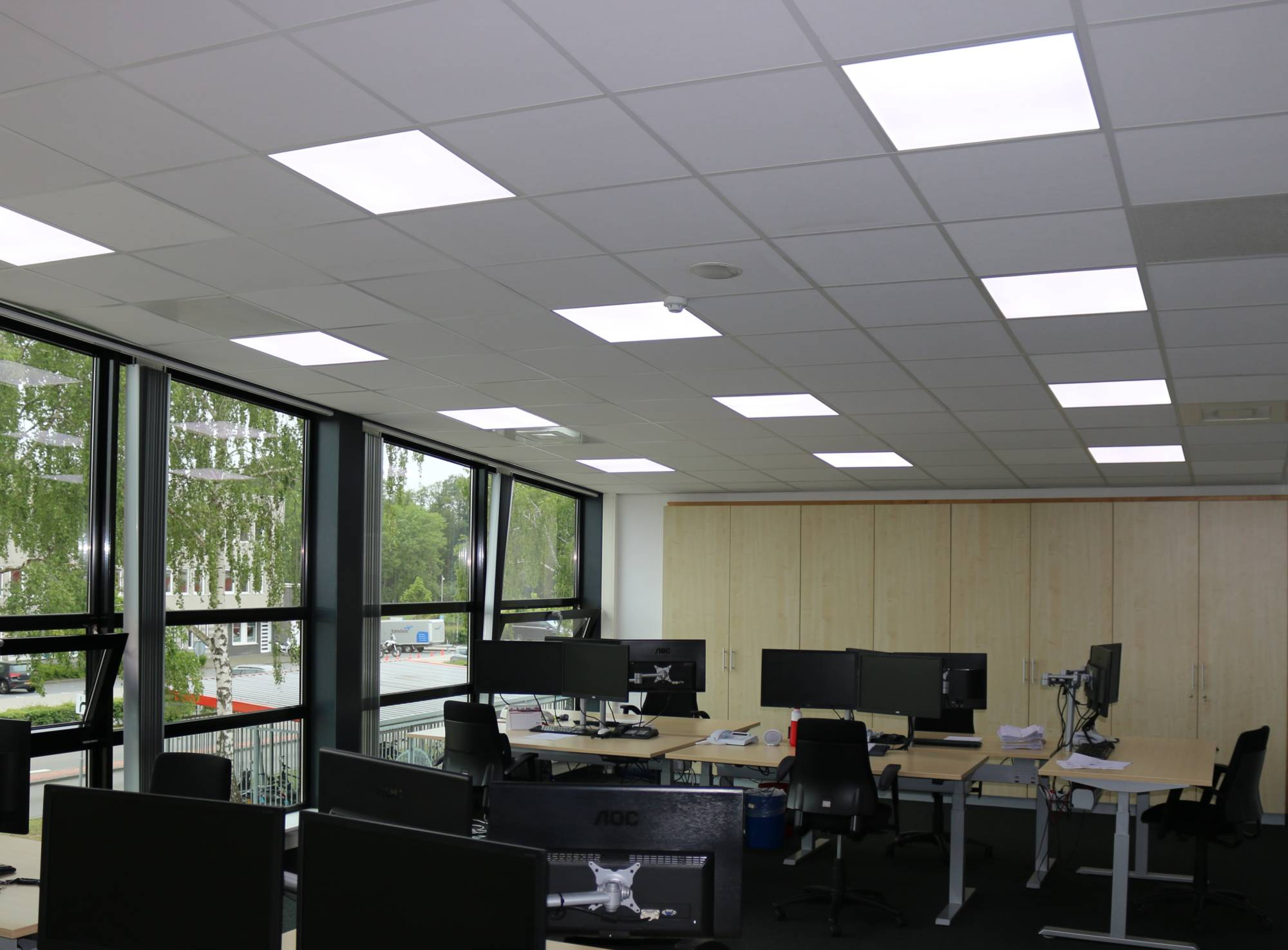 Nachhaltige LED-Beleuchtung Call-Center-Branche